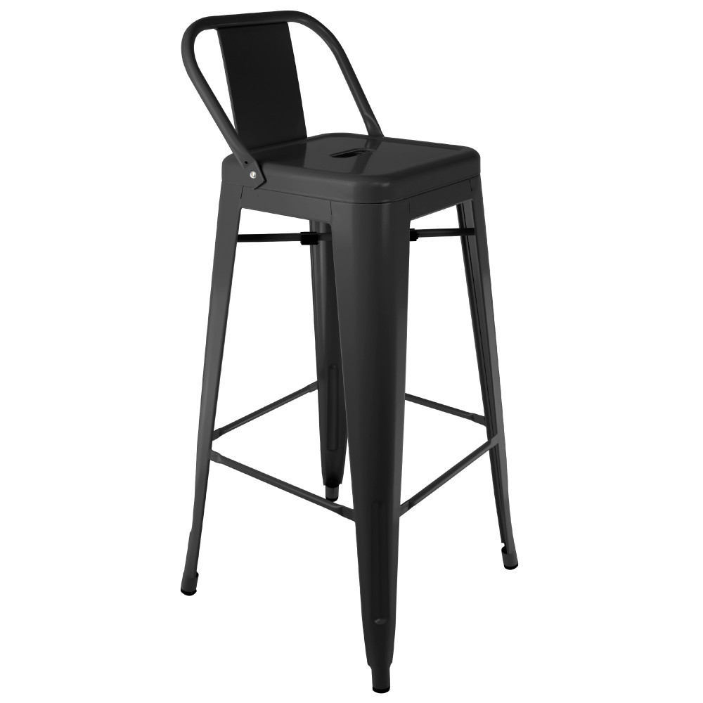 tabouret industriel avec dossier. Black Bedroom Furniture Sets. Home Design Ideas