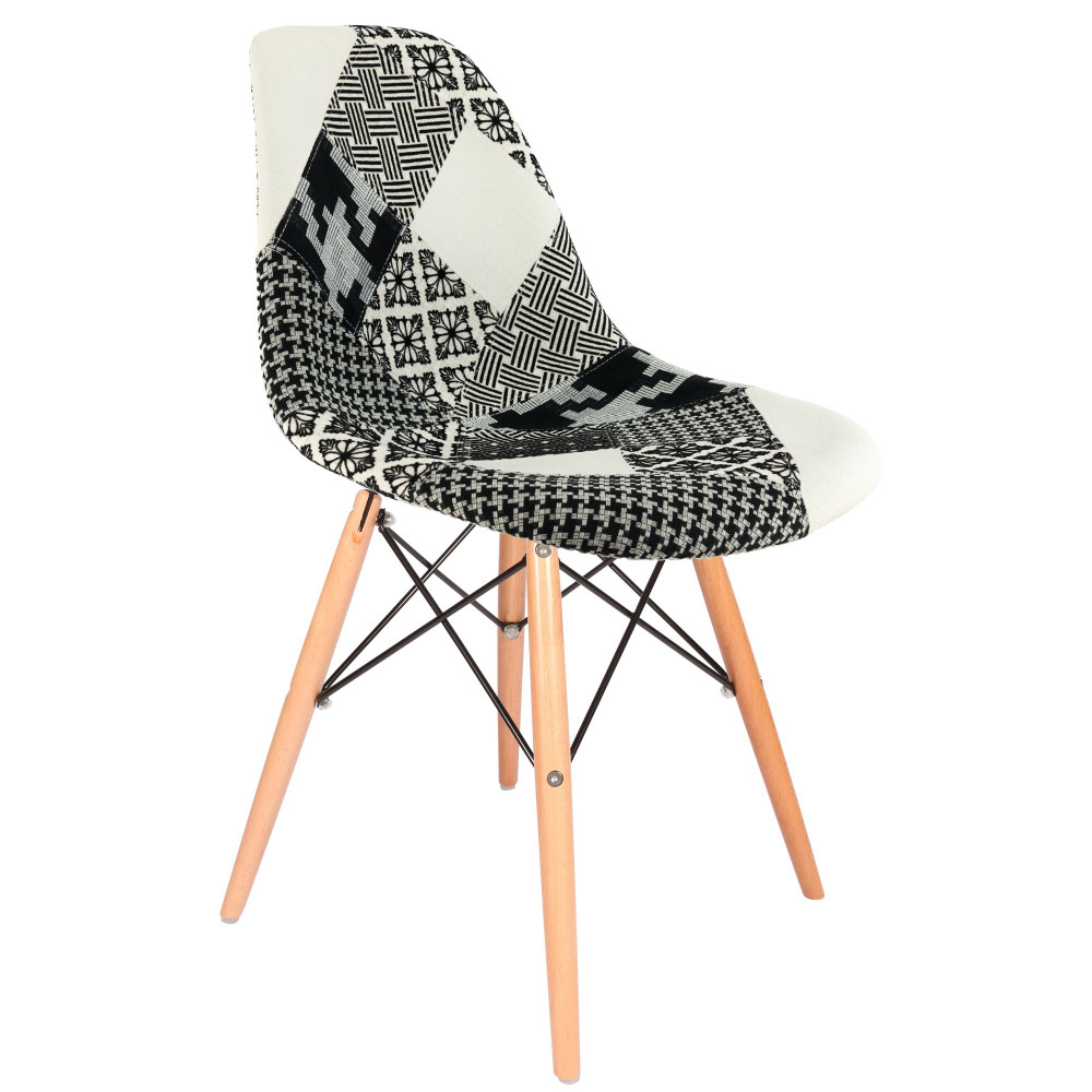 Chaise eames patchwork chaise with chaise eames patchwork for Chaise eames dsw style patchwork
