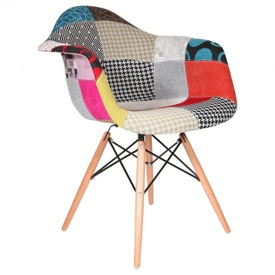 Chaise patchwork eames for Esstischstuhl design
