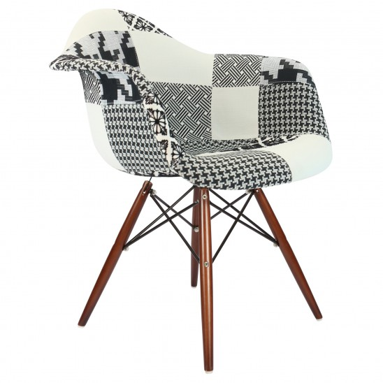 Chaise patchwork eames for Fauteuil eames patchwork