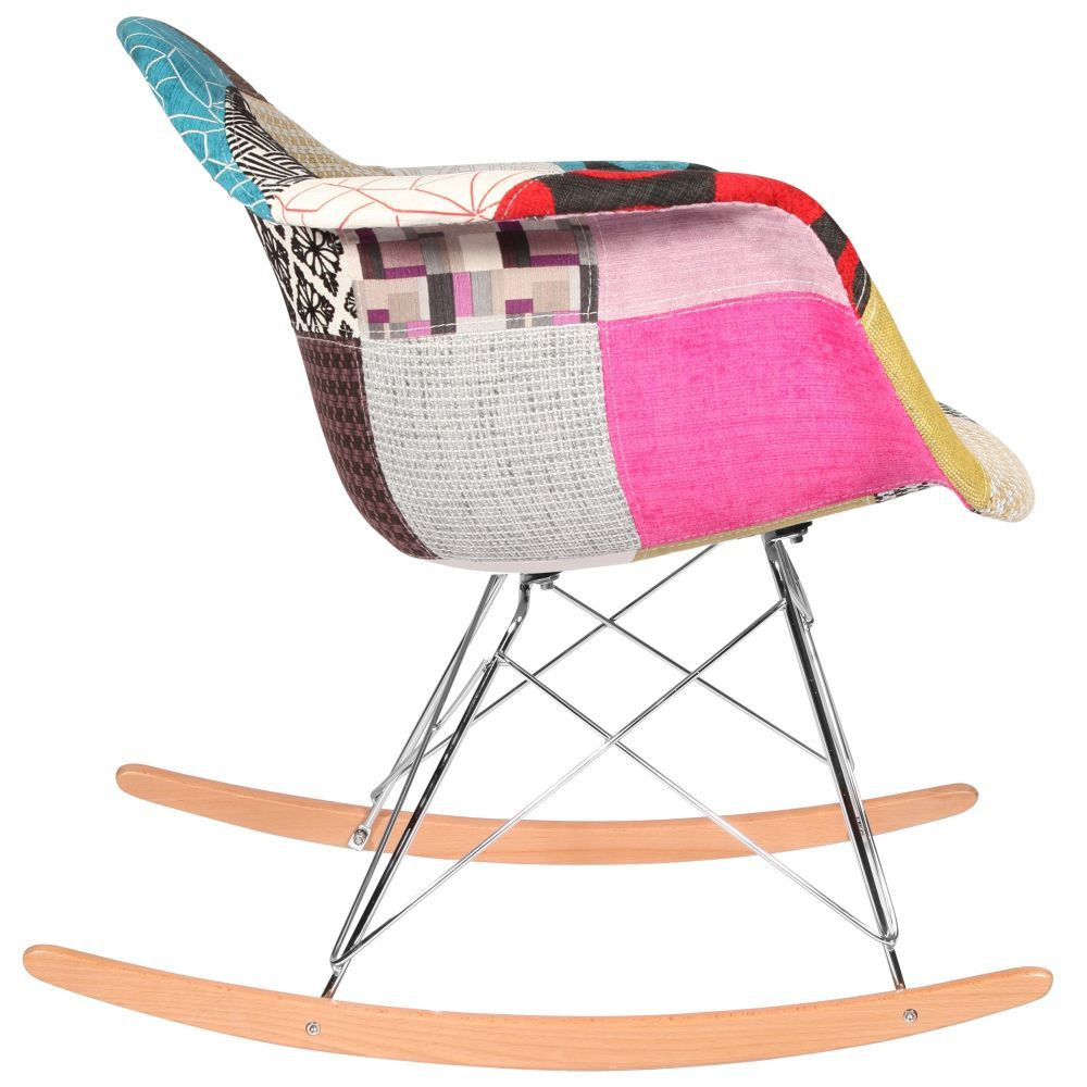 Chaise rocking chair patchwork eames rar for Chaise patchwork xl style