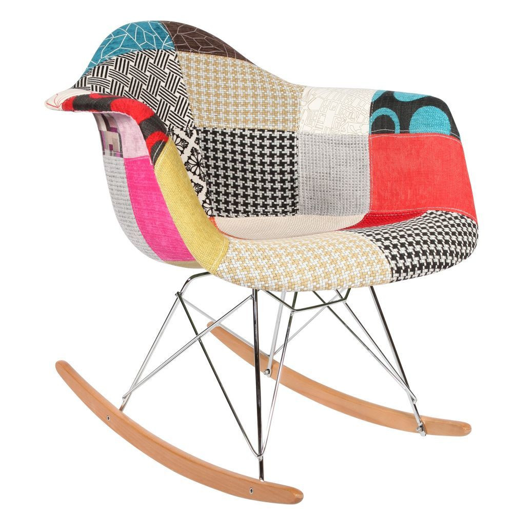 Chaise rocking chair patchwork eames rar for Chaise patchwork
