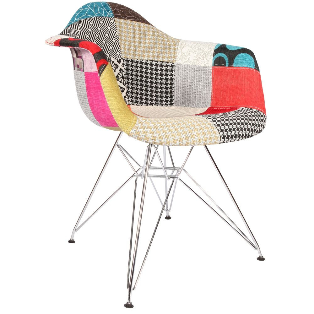 Chaise patchwork eames for Chaise eams patchwork