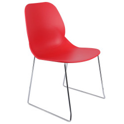 Chaise de cuisine orange