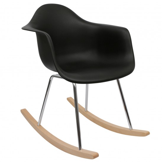 Rocking Chair Scandinave Noir
