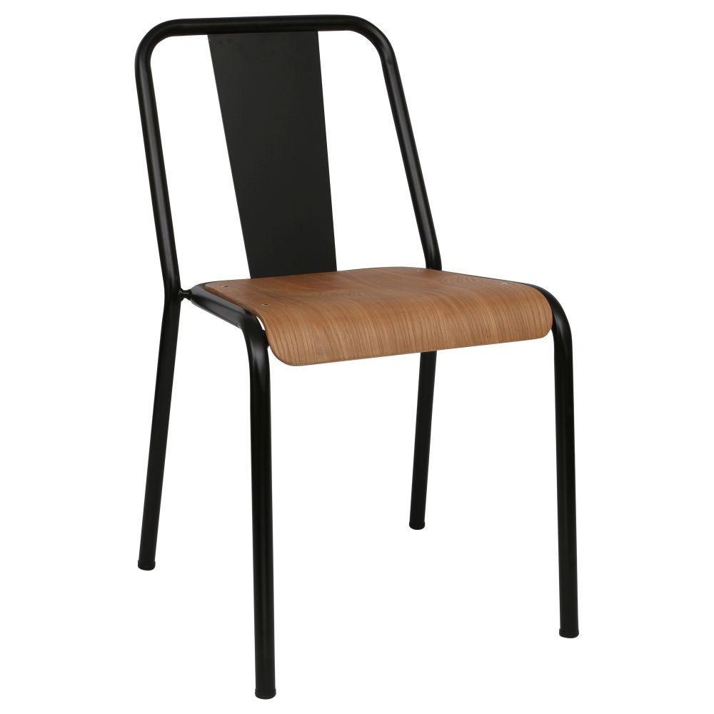 Chaise Bois Et Metal Industriel chaise industrielle métal et bois mater