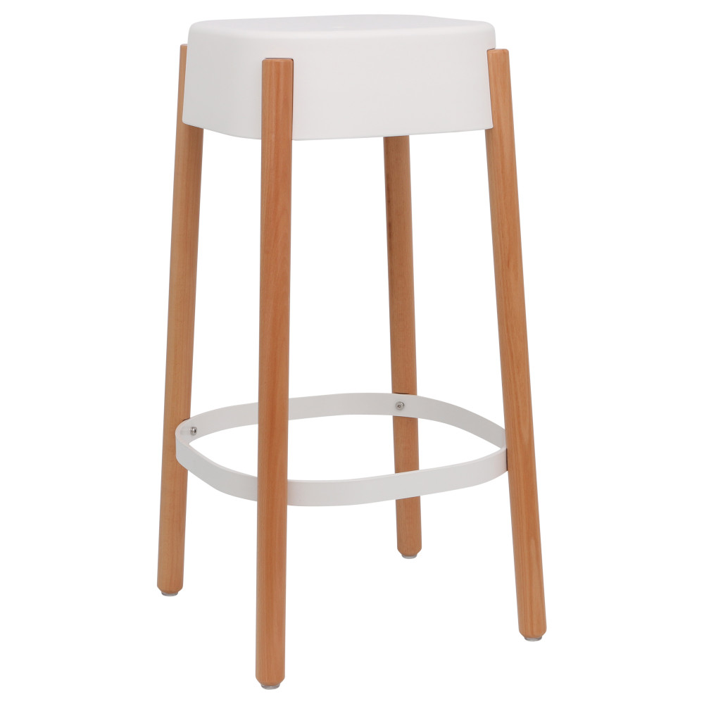 Tabouret De Bar Scandinave En Bois Ghost
