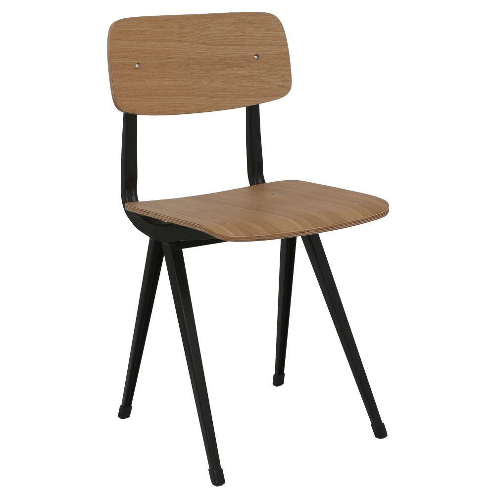 Chaise Bois Et Metal Industriel chaise industrielle métal school