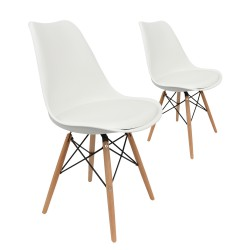 Lot 2 Chaises Scandinaves Tulipe