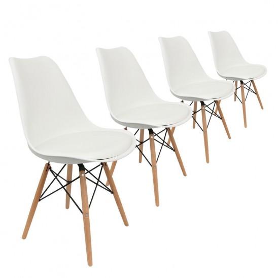 Lot de chaises scandinaves