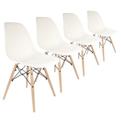 Lot 4 Chaises Scandinaves DXW Premium