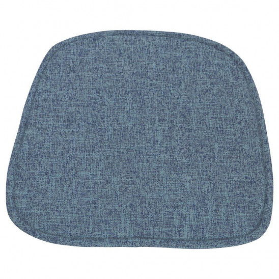 Coussin bleu chaise scandinave