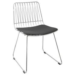 Chaise Design Métal Brunel