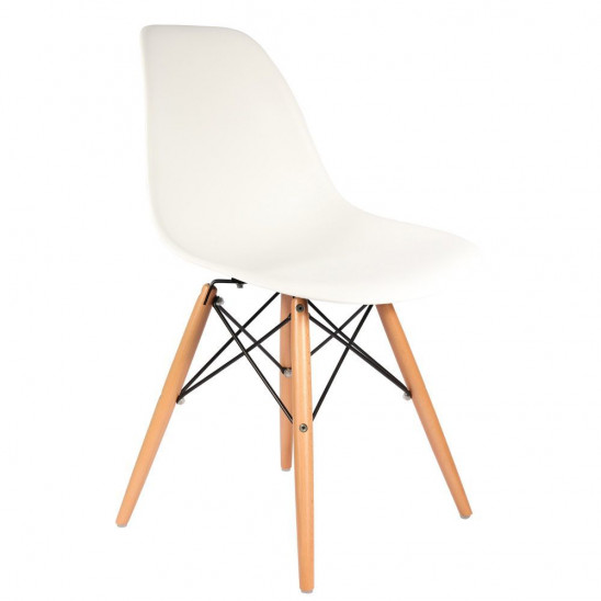 Chaise Eames DSW : Chaises Charles & Ray Eames modele DSW marron ...