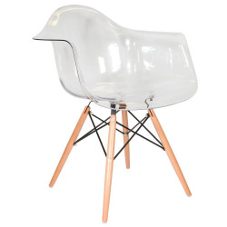 Fauteuil Design Transparent Ghost DAW