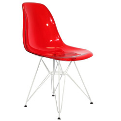 Chaise Transparente Design Ghost Métal DSR