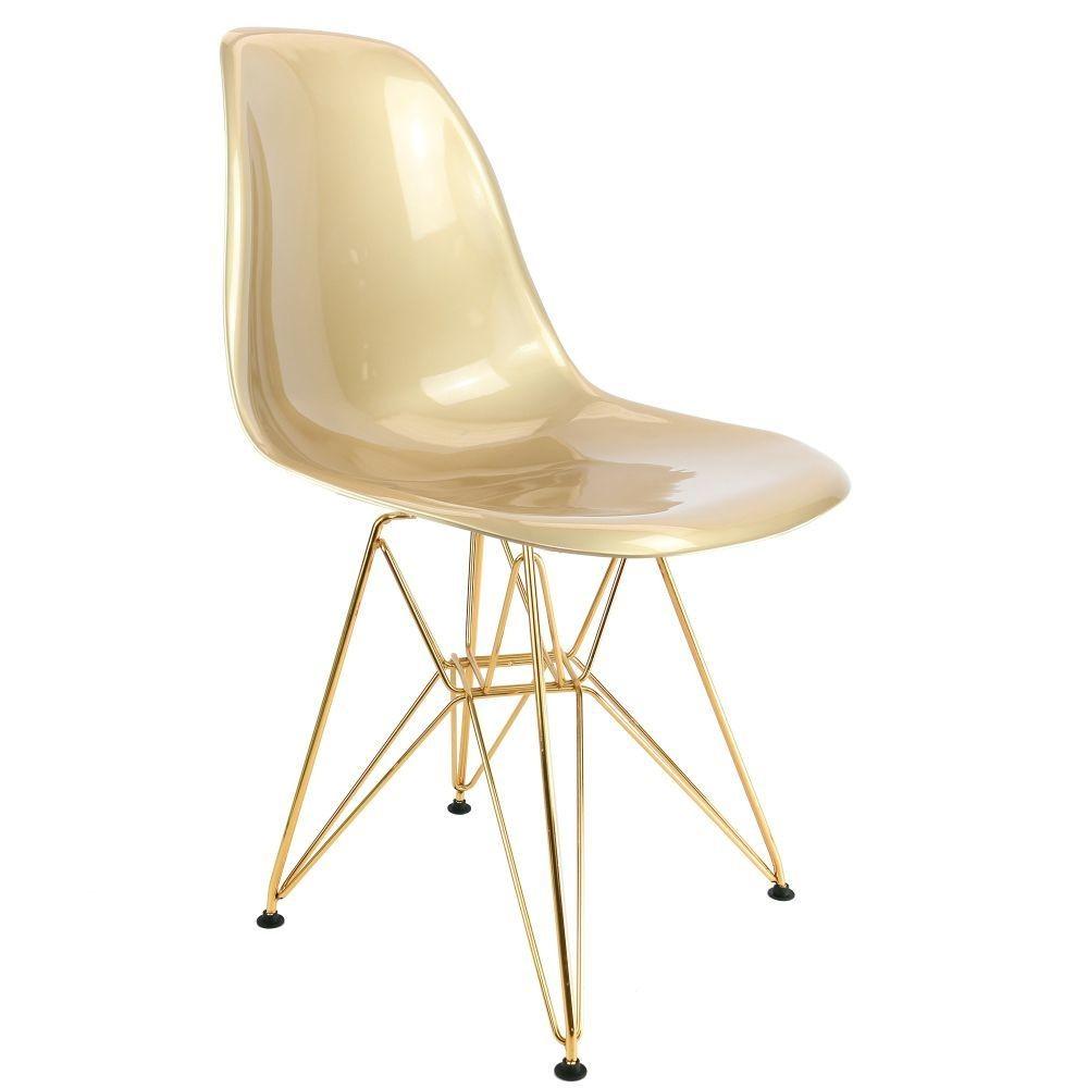 Chaise Design Dorée DSR