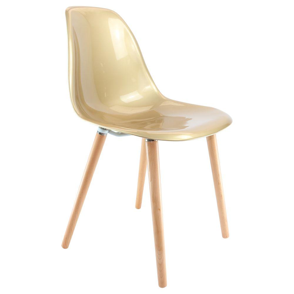 Chaise design dorée