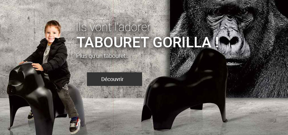 Tabouret Enfant Gorille Singe Animaux