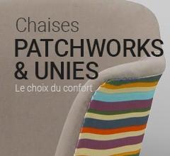 Chaise Patchwork Tissu